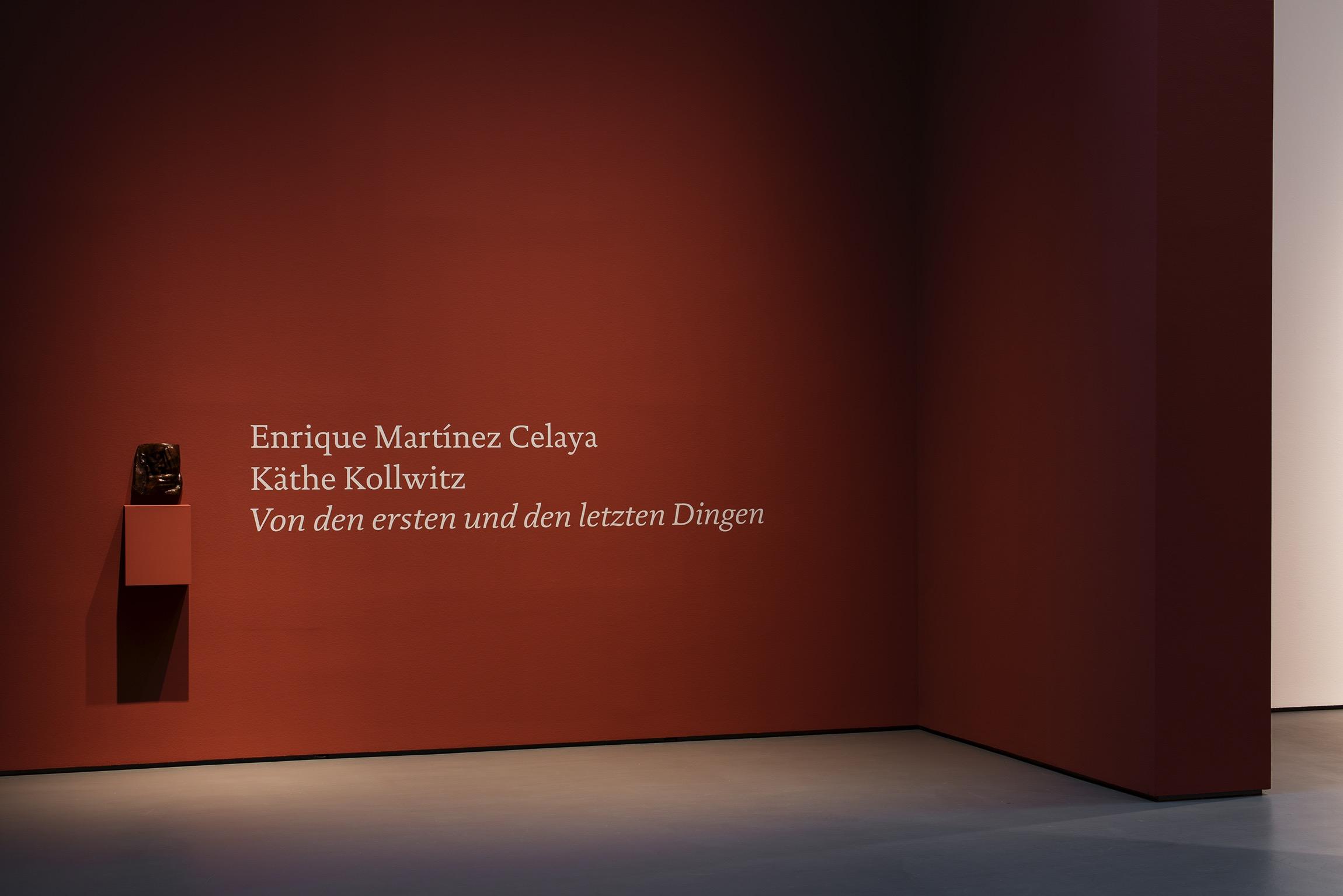 2021 Enrique Martínez Celaya, Käthe Kollwitz Von den ersten und den letzten Dingen