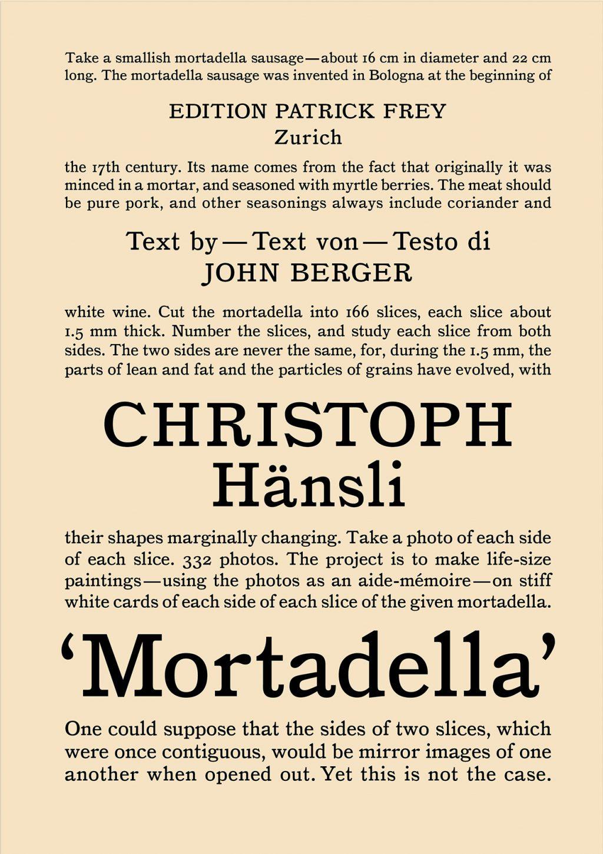2008  Christoph Hänsli Mortadella