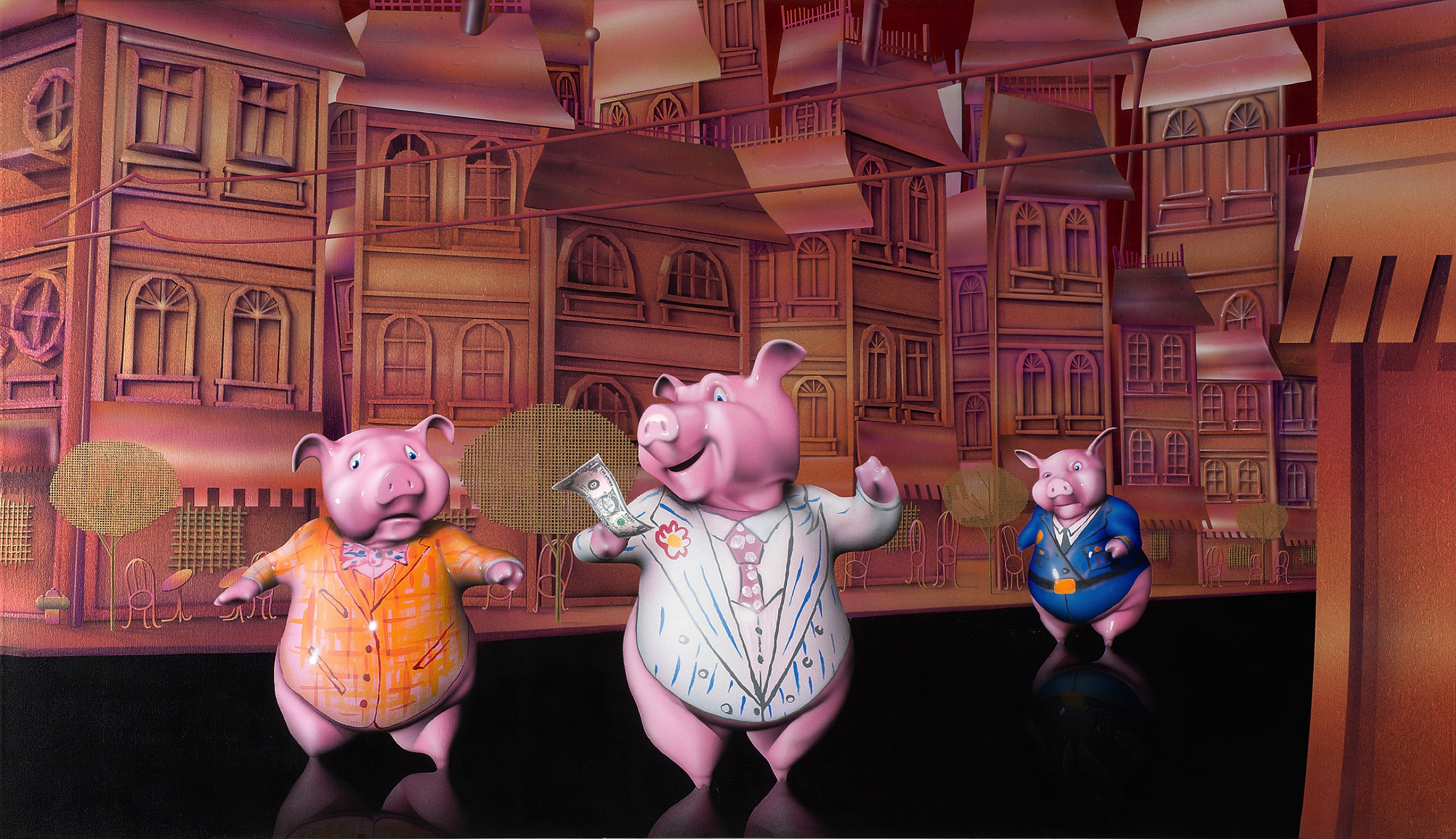 2010 Matthew Weinstein 3 Pigs And 3 Fish