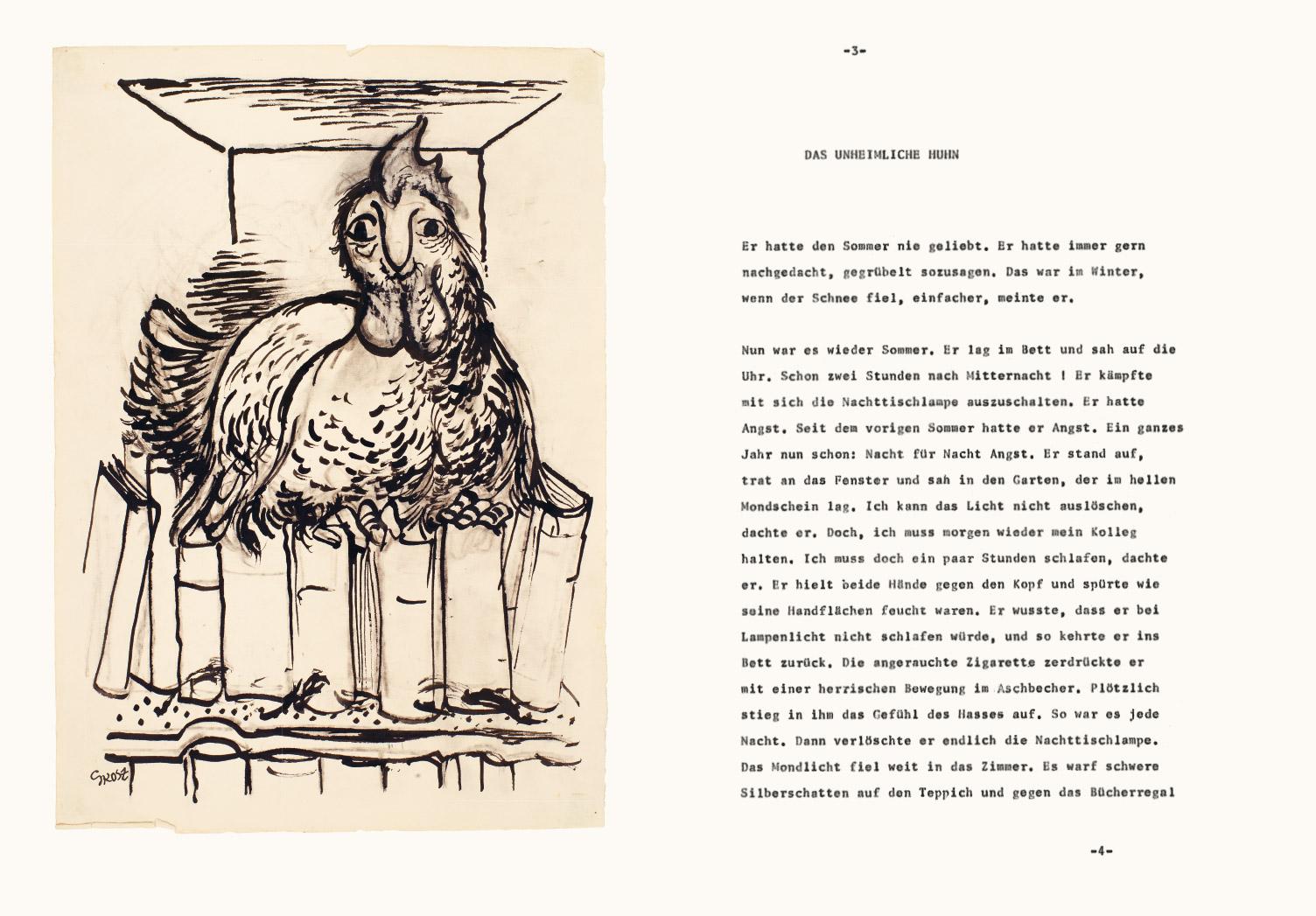 2019 George Grosz Rudolf Omansen und ein Huhn